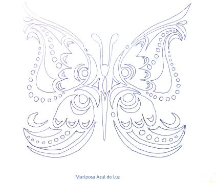 mariposa en blanco 1. Mariposa Azul de Luz.