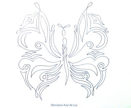 mariposa en blanco 2. Mariposa Azul de Luz