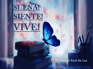 Mariposa Azul de Luz
