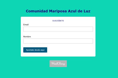 cuadro de suscripcion mariposaazuldeluz.com
