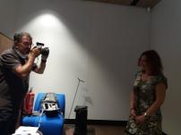 mariposa azul de luz sesión fotos premio literario