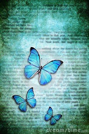 mariposas azul de luz