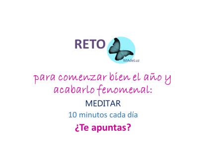 RetoMeditar Mariposa Azul de Luz.