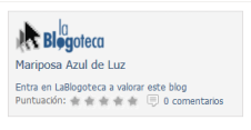 Premios 20Blogs. Valora el blog Mariposa Azul de Luz