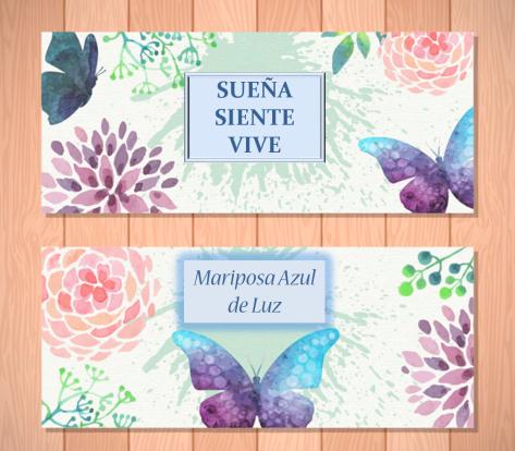 SUEÑA SIENTE VIVE Mariposa Azul de Luz. Motivación y desarrollo personal.