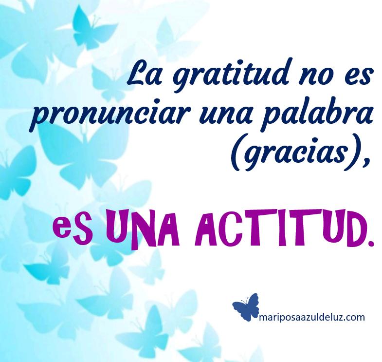 La gratitud. Mariposa Azul de Luz.